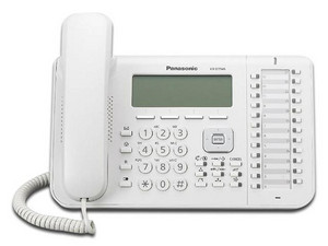 Teléfono Alámbrico Panasonic KX-DT543, Pantalla LCD de 3 líneas, 24 Teclas Programables, Color Blanco.