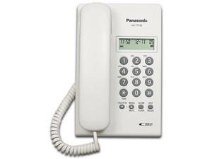 Teléfono Panasonic KX-T7703X 2 Lineas con identificador de llamadas, Color Blanco.