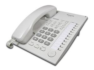 Teléfono Escritorio Digital Panasonic KXT7750X. Color blanco.