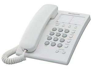 Teléfono Panasonic KX-TS550ME analógico de 13 entradas. Color Blanco.