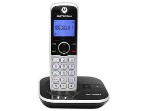 Teléfono inalámbrico Motorola DECT GATE4800 con identificador de llamadas. Color Gris.