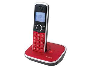 Teléfono inalámbrico Motorola DECT GATE4800 con identificador de llamadas. Color Rojo.
