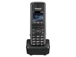 """Teléfono Inalámbrico Panasonic con Identificador de llamadas, LCD 1.8\"""", Tecnología DECT, Color Negro."""
