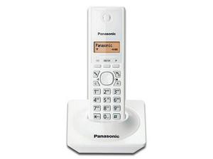 """Teléfono Inalámbrico Panasonic con Identificador de llamadas, Tecnología DECT, pantalla LCD de 1.25\"""" y 50 números en memoria. Color Blanco"""