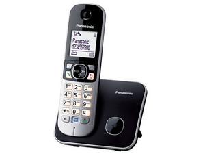 """Teléfono Inalámbrico Panasonic con Identificador de llamdas, Tecnología DECT, pantalla LCD de 1.8\"""", localización de auricular, 100 números en memoria y bloqueo de llamadas. Color Negro"""