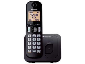 Teléfono inalámbrico con sistema Dect y identificador Panasonic KX-TGC210MEB, Color Negro.