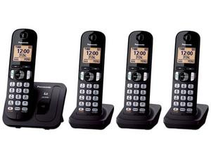 Teléfono inalámbrico Panasonic KX-TGC214MEB con Tecnología DECT y 50 números en memoria.