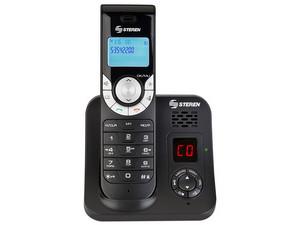 Teléfono inalámbrico STEREN TEL-2480 con contestadora. Color Negro.