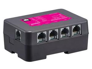 Distribuidor de piso para videoporteros COMMAX CMD404CFU, interconecta 4 videoporteros por módulo.