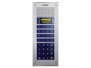 Frente de calle COMMAX CMP4BCT para apartamentos Modum, con 16 botones de marcado directo, soporta hasta 316 monitores.