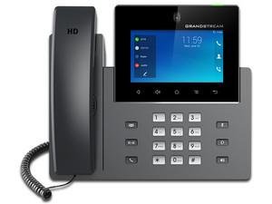 """Teléfono Alámbrico IP Grandstream GXV3350, pantalla 5\"""", 16 cuentas SIP, PoE, USB, Android 7.0."""