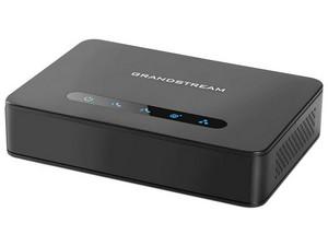 Adaptador telefónico Grandstream HT812 soporta 2 perfiles SIP a través de 2 puertos FXS y 1 puerto de 10/100Mbps.