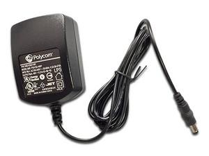 Adaptador e inversor de corriente Polycom para teléfonos.