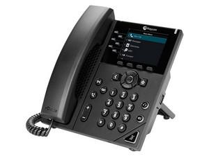 Teléfono Alámbrico IP Polycom VVX 350 2200-48830-025, 6 Líneas, PoE.