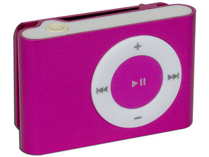 Reproductor de MP3 Arion tipo Clip de 1GB. Color Rosa