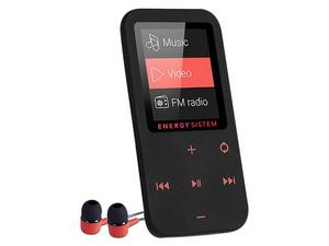 Reproductor de MP4 Energy Sistem Touch, Radio FM y Grabador de Voz. 8GB. Color Negro, Bluetoth