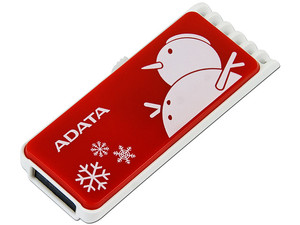 Unidad Flash USB 2.0 ADATA C802 Christmas Snowman de 4GB