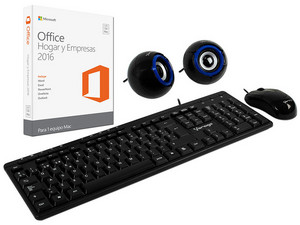 Microsoft Office Hogar y Empresas 2016 para Mac, 1 equipo, Incluye Kit Multimedia 3 en 1 Vorago 104.