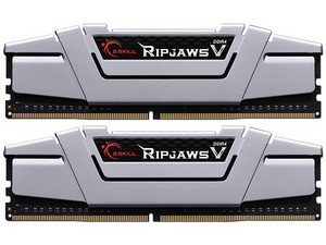 Memoria G.Skill Ripjaws V DDR4 PC4-22400 (2800MHz), CL16, 16GB (2 x 8GB), Kit con dos piezas de 8GB. Color Plata.