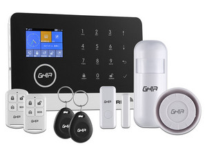 Kit de alarma GHIA GAL-001 con panel touch, WIFI / GSM / 3G.