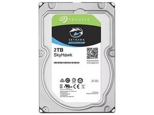 "Disco Duro para Videovigilancia Seagate SkyHawk de 2TB, 3.5\"", Caché 256MB, SATA III (6.0 Gb/s)."