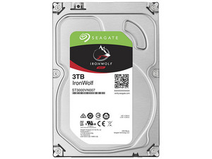 Disco Duro para Videovigilancia Seagate IronWolf de 3 TB, 64MB, SATA III (6 Gb/s)