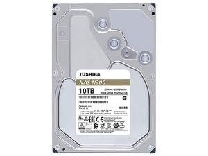 Disco Duro Toshiba N300 de 10TB, 7200 RPM, Caché 256MB, SATA III (6 Gb/s) compatible con NAS.