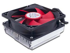 Disipador y Ventilador Brobotix VENRBT050 para Sockets AM2, AM2+, AM3, AM3+, FM1 y FM2, Color Negro/Rojo.