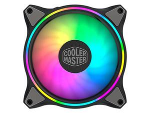 Ventilador Cooler Master MF120 Halo de 120mm, iluminación LED RGB direccionable.