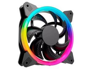 Ventilador Oceltot OGF01, 120mm, iluminación RGB. Color Negro.
