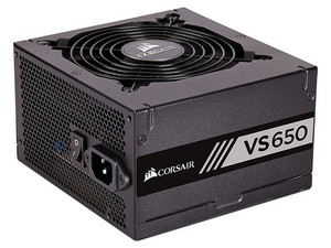 Fuente de Poder Corsair VS650 de 650W, ATX, 80 PLUS White.