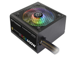 Fuente de Poder Thermaltake TOUGHPOWER GX1 RGB de 600W, ATX, 80 PLUS GOLD.