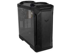 Gabinete ASUS TUF Gaming GT501, EATX, RGB, panel lateral de cristal templado,(sin fuente de poder). Color Negro.