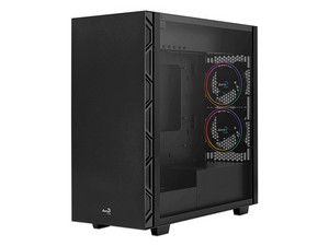 Gabinete AEROCOOL FLO SATURN FRGB Midi-Tower Black, Cristal Templado, ATX / micro-ATX / mini-ITX, RGB, 2 x USB 3.0, 2 x USB 2.0.