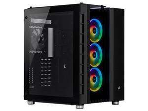 Gabinete Corsair Crystal Series 680X RGB, ATX, Sin fuente de poder. Color Negro.