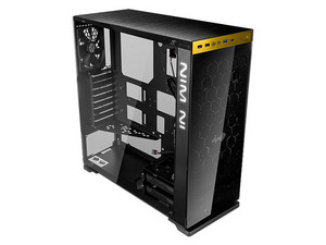 Gabinete In Win 850 Gold, Media Torre, ATX (no incluye fuente de poder). Color Negro / Oro.