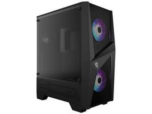 Gabinete MSI Mag Forge 100R, ATX, RGB Direccionable, Sin fuente de poder. Color Negro.