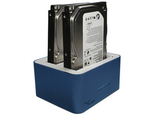 "Docking Station X-Case para discos duros de 2 Bahías SATA de 2.5\"" ó 3.5\"", USB 3.0."