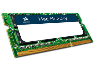 Memoria Corsair SODIMM DDR3L PC3L-12800 (1600MHz), 8 GB. Para Apple iMac, MacBook y MacBook Pro.