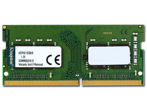Memoria Kingston SODIMM DDR4 PC4-17000 (2133 MHz) 8 GB.