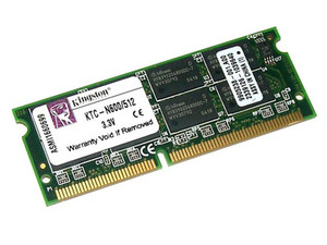 Memoria Kingston de 512MB, Modelo: KTC-N600/512