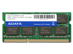 Memoria ADATA SODIMM DDR3 PC3-10600 (1333 MHz) CL11, 8 GB.