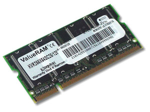 Memoria Kingston SODIMM DDR PC2100, 200Pines, 128Mb