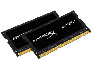 Memoria SODIMM Kingston HyperX Impact DDR3L, CL11, PC3L-14900 (1866MHz), 16 GB, (2 x 8 GB).