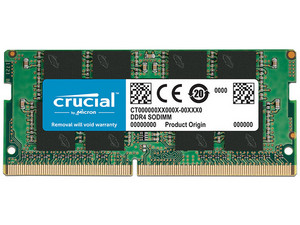 Memoria SODIMM Crucial DDR4 PC4-21300 (2666 MHz), CL19, 16GB.