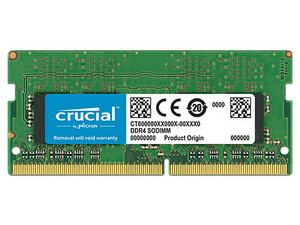 Memoria Crucial SODIMM DDR4 PC4-21300 (2666MHz), CL19, 4GB.