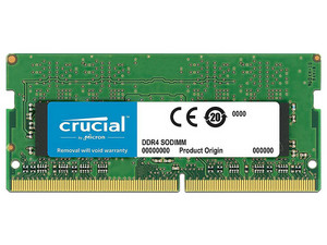 Memoria  SODIMM Crucial DDR4, PC4-19200 (2400MHz) CL17, 8 GB.