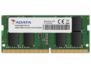 Memoria ADATA Premier AD4S2666732G19-SGN, DDR4, PC4-21300 (2666MHz), 32GB.