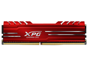 Memoria ADATA XPG GAMMIX D10 DDR4, PC4-19200 (2400MHz), CL16, 16 GB. Color rojo.