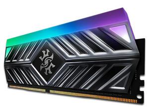 Memoria ADATA XPG SPECTRIX D41 TITANIO RGB DDR4, PC4-25600 (3200MHz), CL16, 16GB. Color Negro.